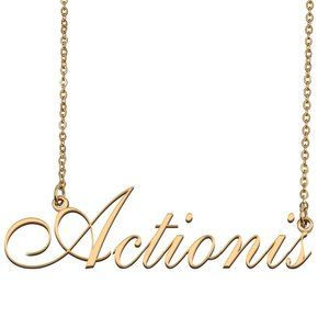 Custom Personalized Actionis Name Necklace